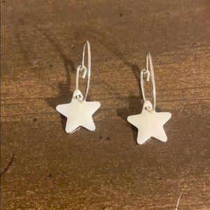 Sterling Silver Kids Small Hoop Star Earrings